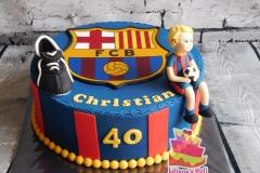 Barcelona taart
