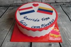 Holanda -Colombia taart