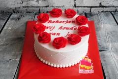 taart met roses